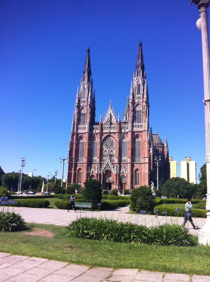 La Catedral de la Ciudad de la Plata, utsiktpormà royaltyfri foto