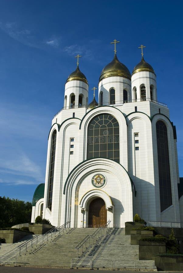 La catedral de Cristo el salvador en Kaliningrado fotos de archivo