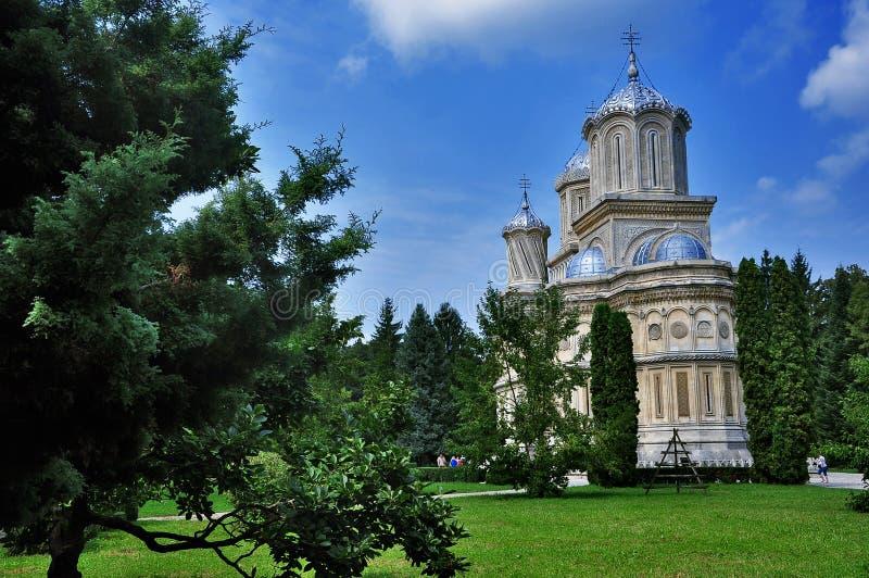 La catedral de Curtea de Arges fotografía de archivo