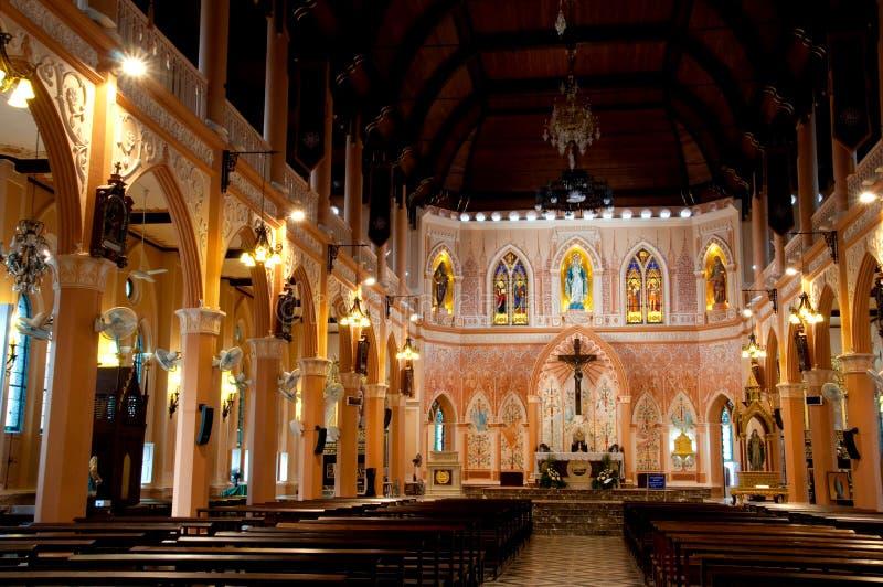 La catedral de la Inmaculada Concepción, Chanthaburi, Tailandia imagen de archivo libre de regalías