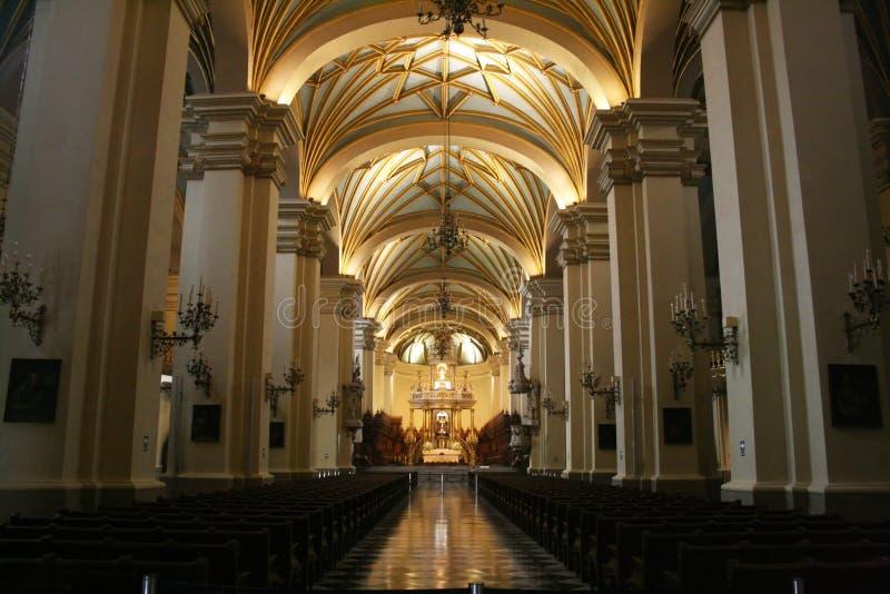 La catedral de Lima fotos de archivo