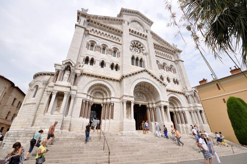 La catedral de Mónaco fotografía de archivo