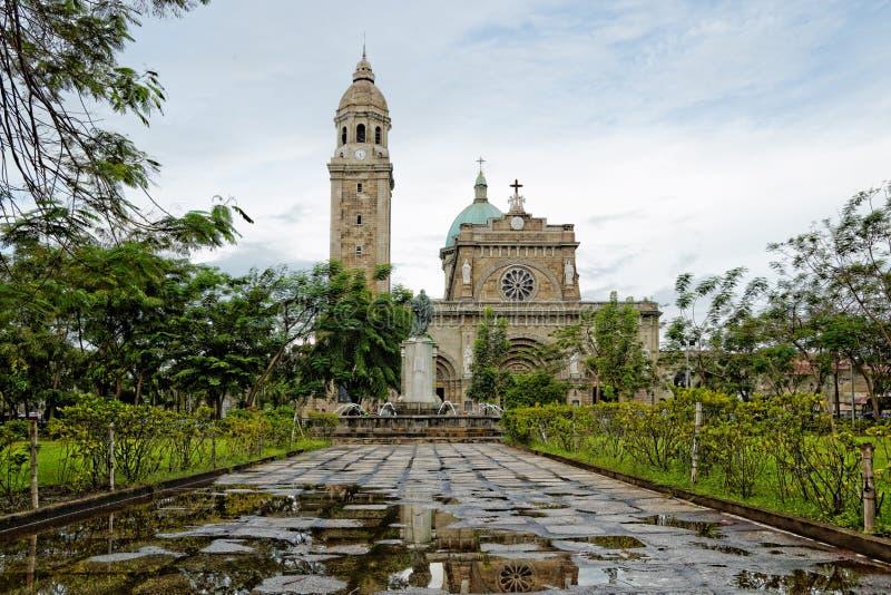 La catedral de Manila, Filipinas imagen de archivo libre de regalías