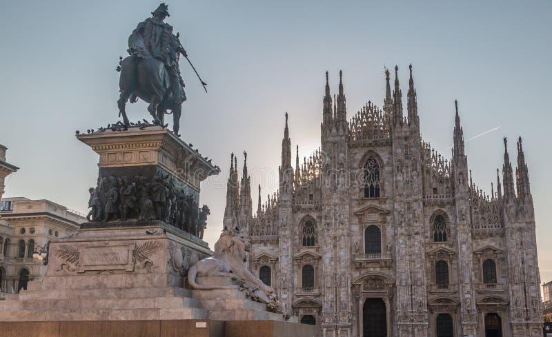 La catedral de Milano foto de archivo