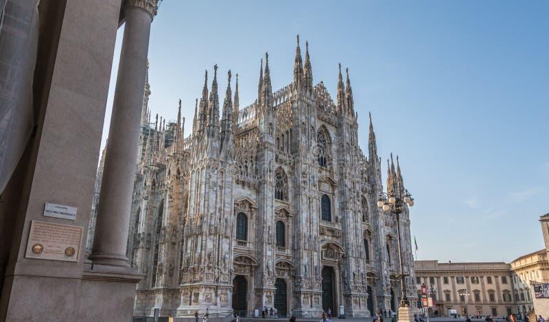 La catedral de Milano imagen de archivo