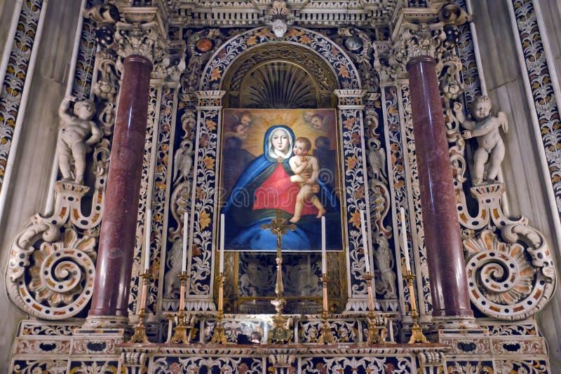 La catedral de Monreale imagenes de archivo