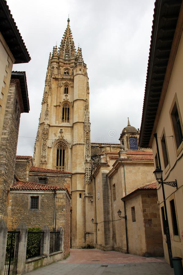 La catedral de Oviedo fotos de archivo libres de regalías