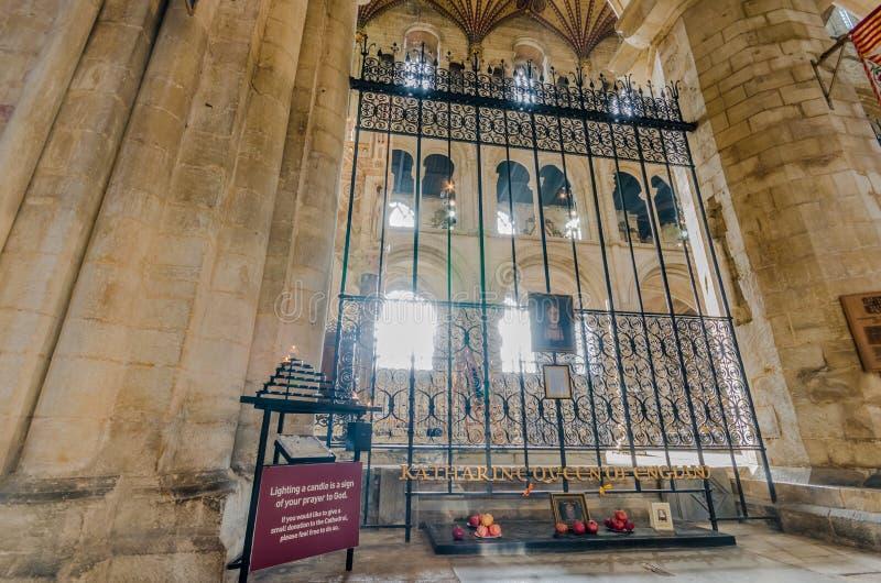 La catedral de Peterborough es una catedral monástica ubicada en Cambridgeshire, Inglaterra foto de archivo