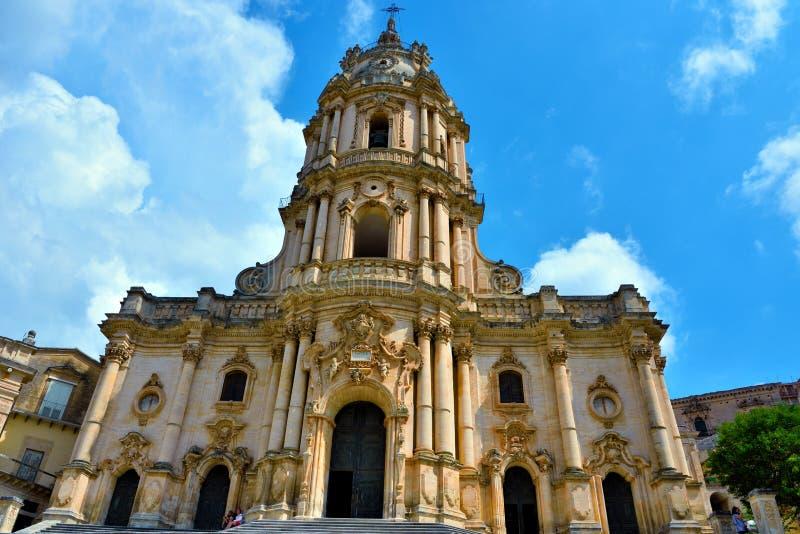 La catedral de San Giorgio Modica Italy fotos de archivo libres de regalías