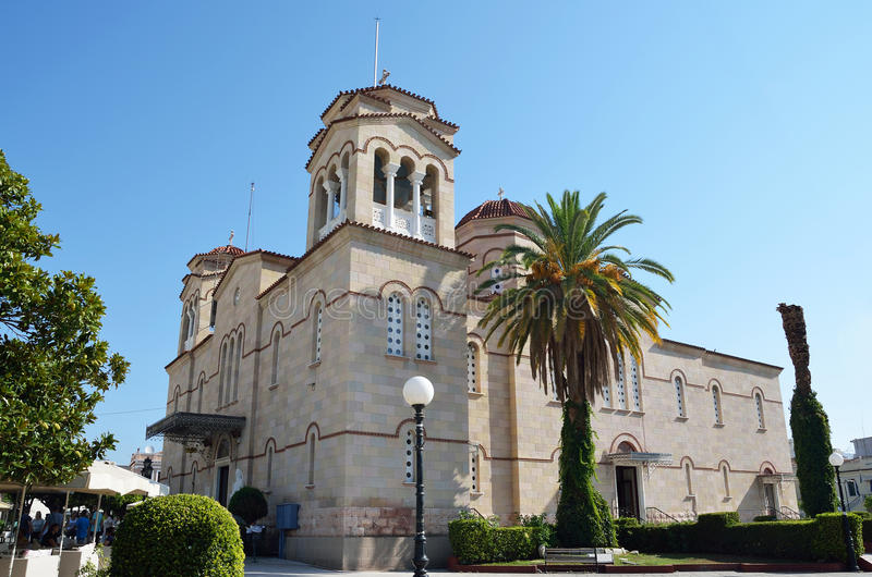 La catedral de San Pedro ( Agios Petros ) en Argos, Peloponnesse imagen de archivo libre de regalías