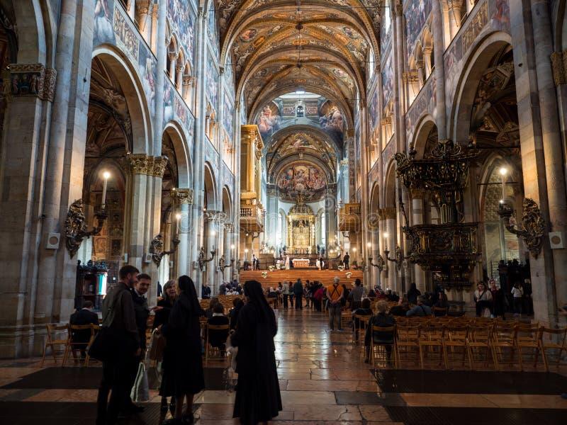 La catedral de Santa Maria Assunta en Parma, Italia fotografía de archivo
