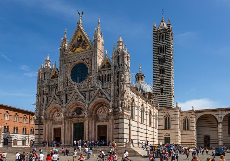 La catedral de Siena fotografía de archivo