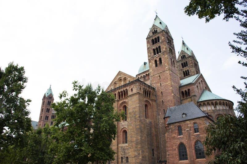 La catedral de Speyer en la ciudad de Speyer en Renania Palatinado, Alemania imagen de archivo