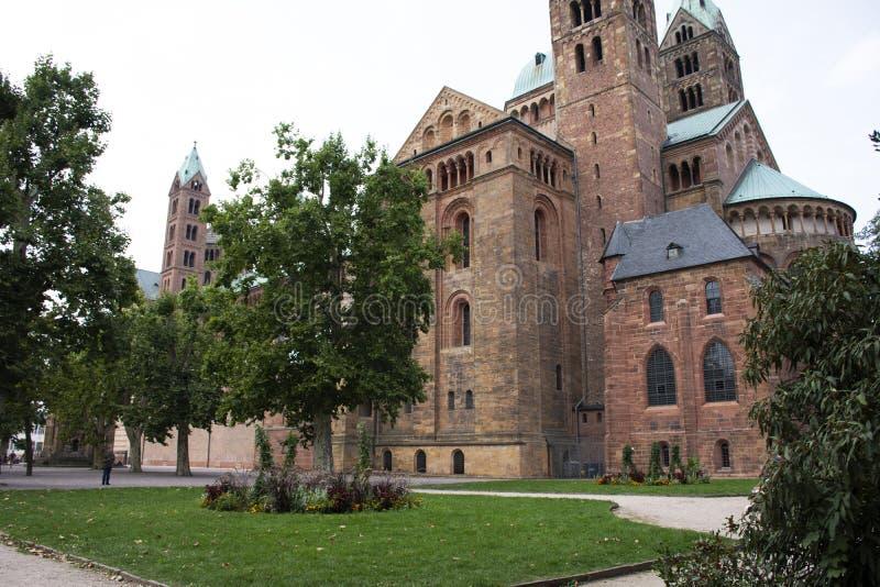 La catedral de Speyer en la ciudad de Speyer en Renania Palatinado, Alemania fotografía de archivo