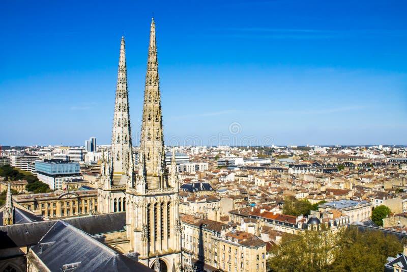La catedral de St Andrew, Burdeos, Francia imagenes de archivo