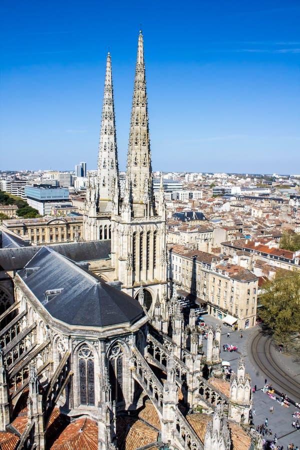 La catedral de St Andrew, Burdeos, Francia fotografía de archivo