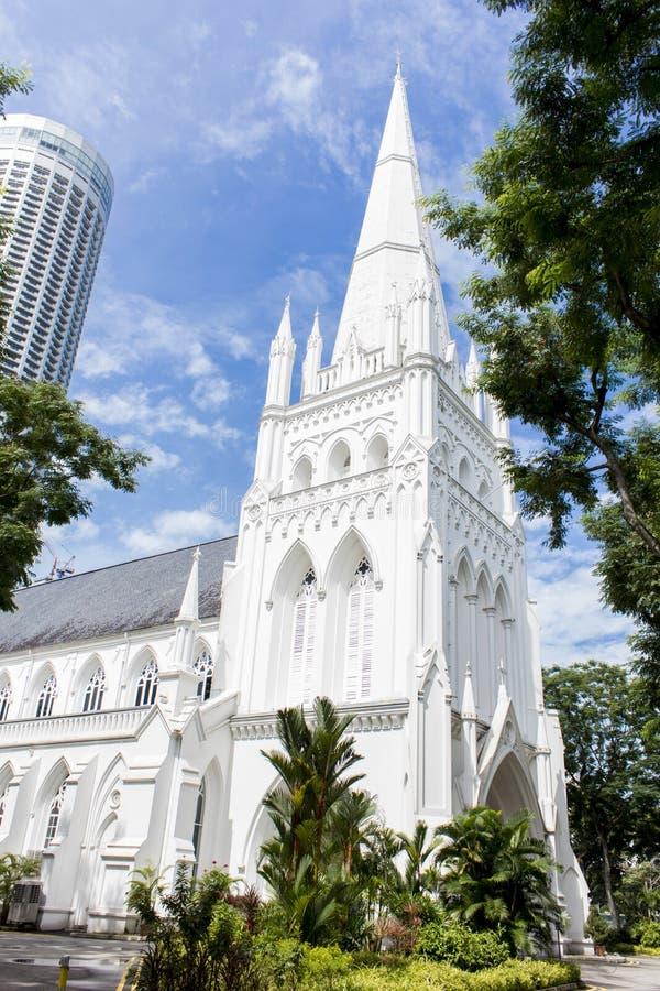 La catedral de St Andrew, Singapur imágenes de archivo libres de regalías