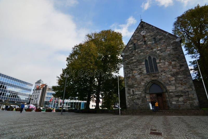 La catedral de St Swithun Stavanger Condado de Rogaland noruega imagenes de archivo