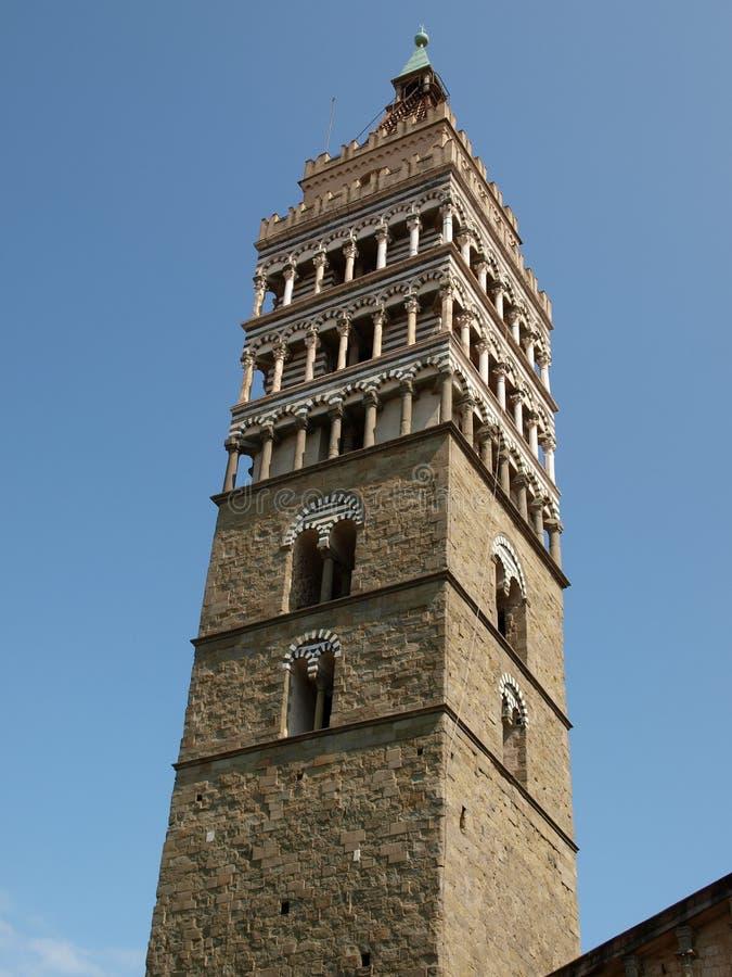 La catedral de St Zeno - Pistóia Toscana fotos de archivo