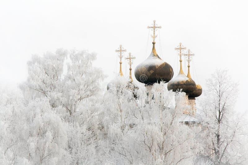 La catedral del invierno foto de archivo libre de regalías