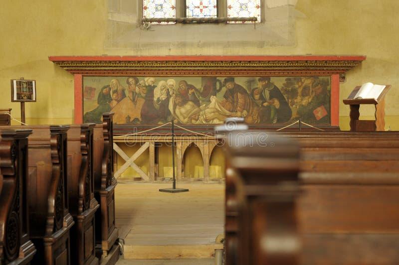La catedral del Lutheran de St Mary, interior imagen de archivo libre de regalías