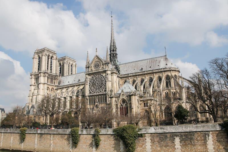 La catedral del Notre Dame de Paris, Francia foto de archivo