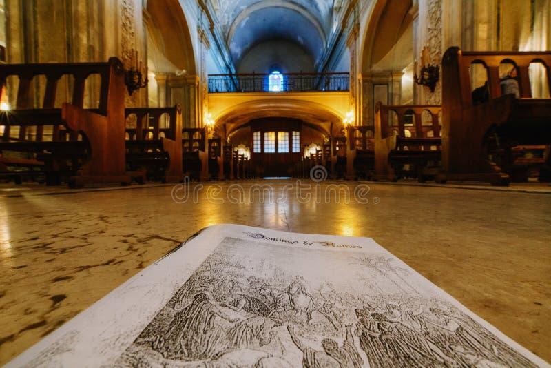 La catedral en el centro de Buenos Aires, la Argentina fotos de archivo libres de regalías