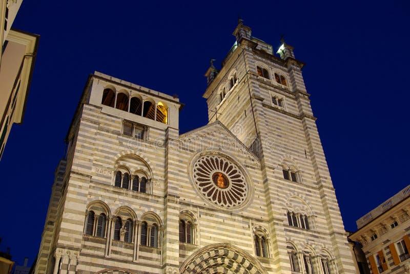 La catedral, Génova, Italia imagen de archivo
