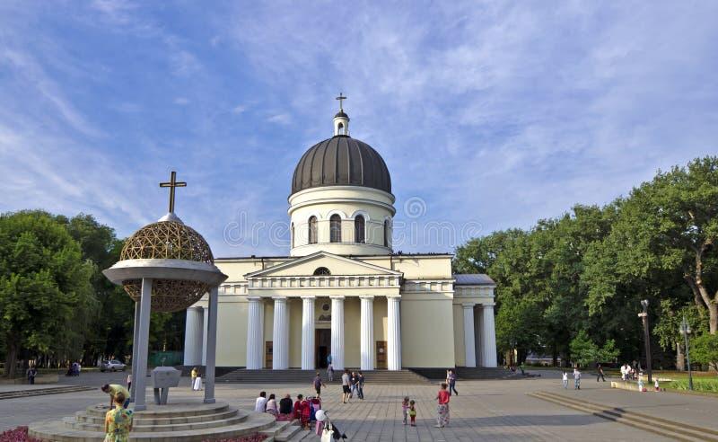 La catedral metropolitana Chisinau, el Moldavia foto de archivo libre de regalías
