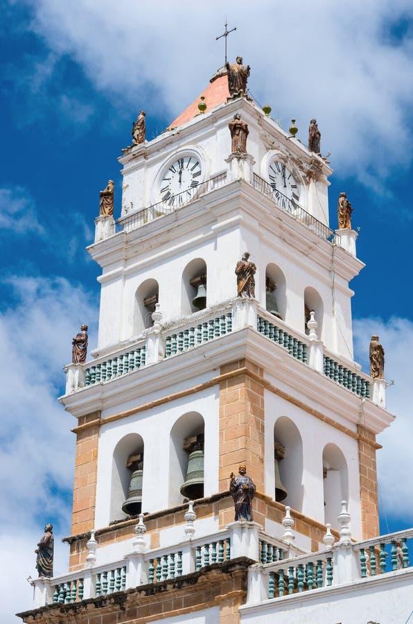 La catedral metropolitana de Sucre en Bolivia imagen de archivo libre de regalías
