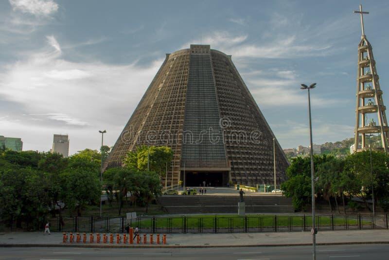 La catedral metropolitana del santo Sebastian Portuguese: Catedral Metropolitana de São Sebastião imagen de archivo libre de regalías