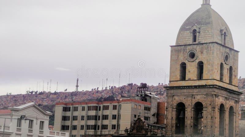La catedral metropolitana en La Paz, Bolivia fotos de archivo