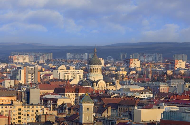 La catedral ortodoxa Cluj Napoca, Rumania fotos de archivo