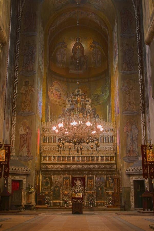La catedral ortodoxa en Cluj fotografía de archivo