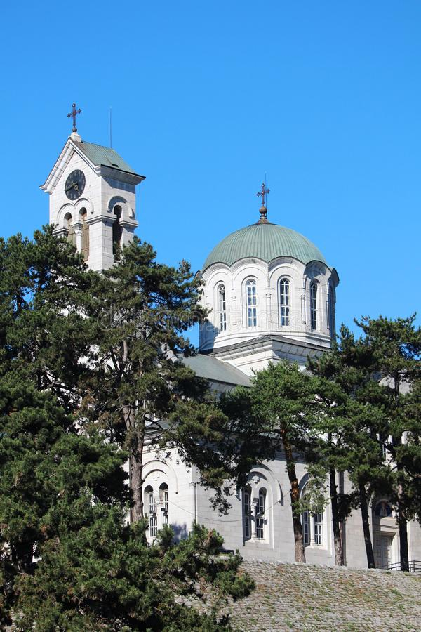 La catedral ortodoxa en Niksic, Montenegro foto de archivo libre de regalías