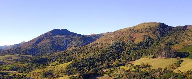 La catena montuosa di Mantiqueira immagini stock libere da diritti