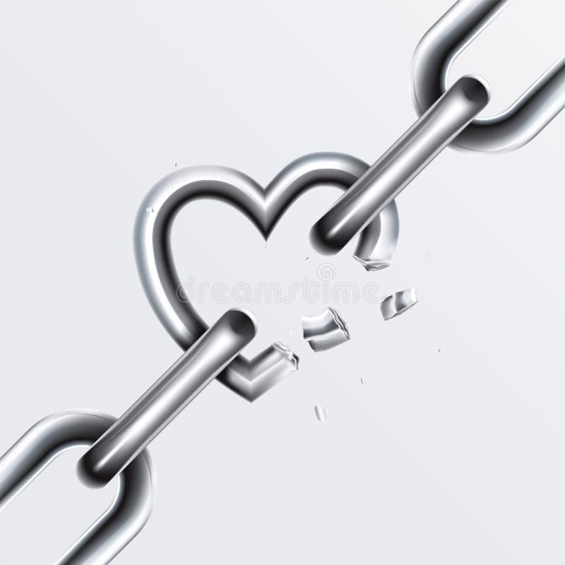La catena rotta ha impostato 2 illustrazione vettoriale