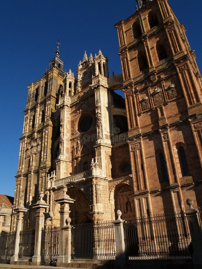 La cathédrale d'Astorga image libre de droits