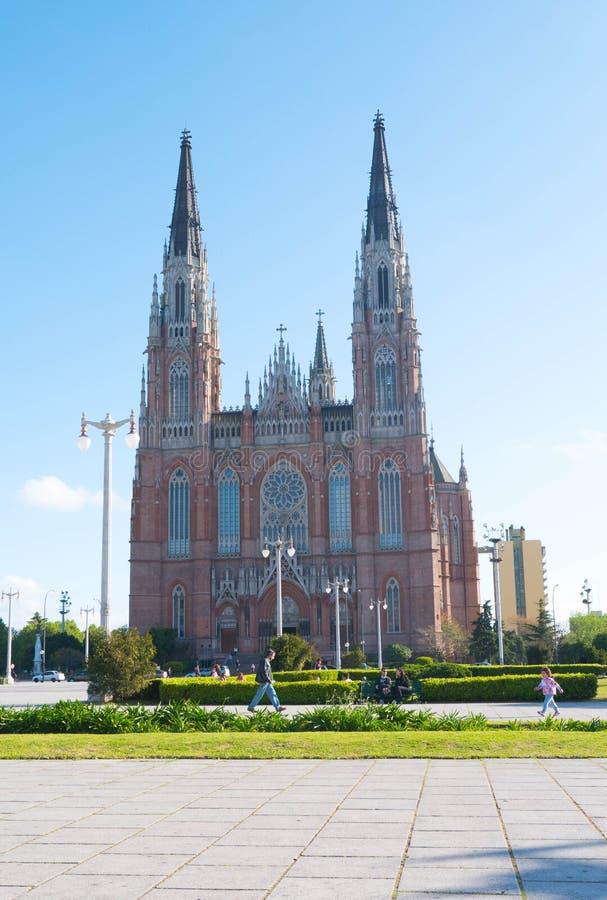 La cathédrale dans la ville de la La Plata photographie stock