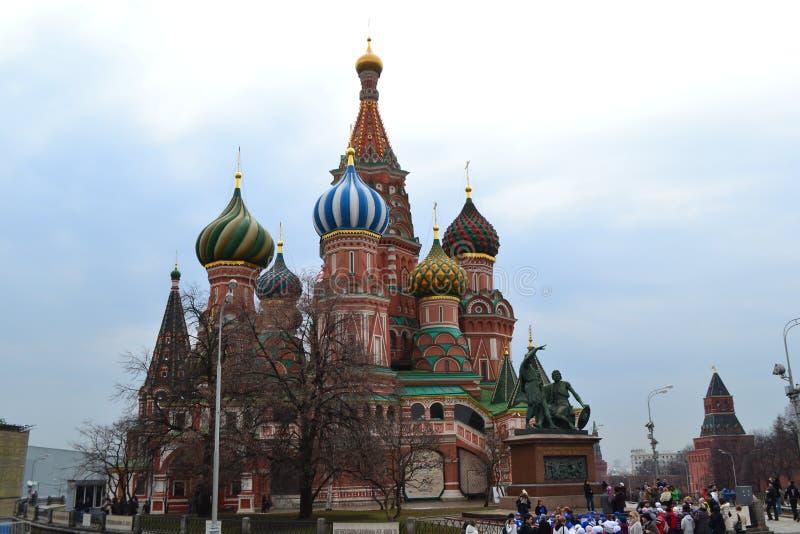 La cathédrale de Basil de saint Moscou - Russie image libre de droits
