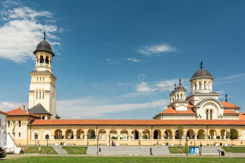 La cathédrale de couronnement d'Alba Iulia photo libre de droits