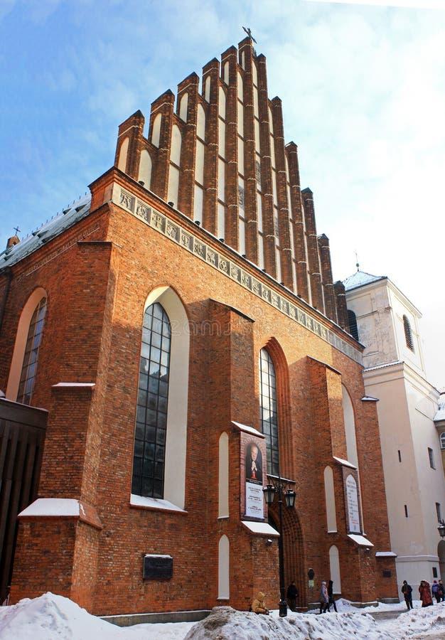 La cathédrale de John de saint à Varsovie photos libres de droits