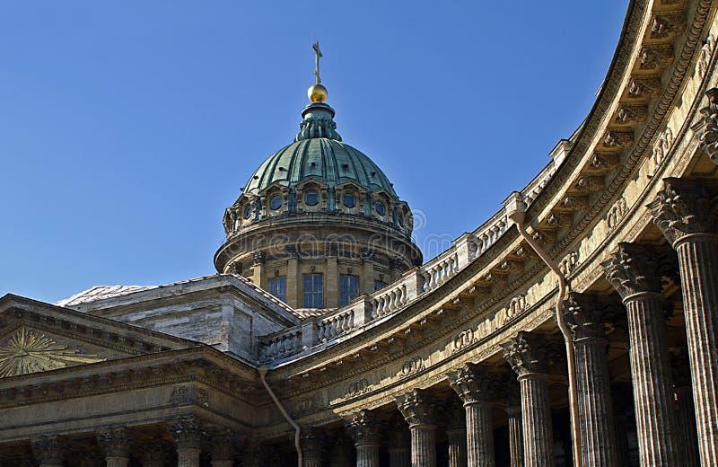 La cathédrale de Kazan à St Petersburg images stock