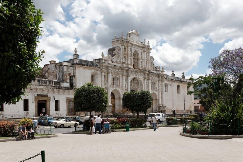 La cathédrale de l'Antigua Guatemala images libres de droits