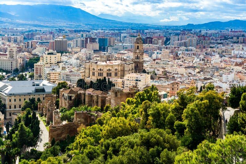 La cathédrale de Malaga photographie stock libre de droits
