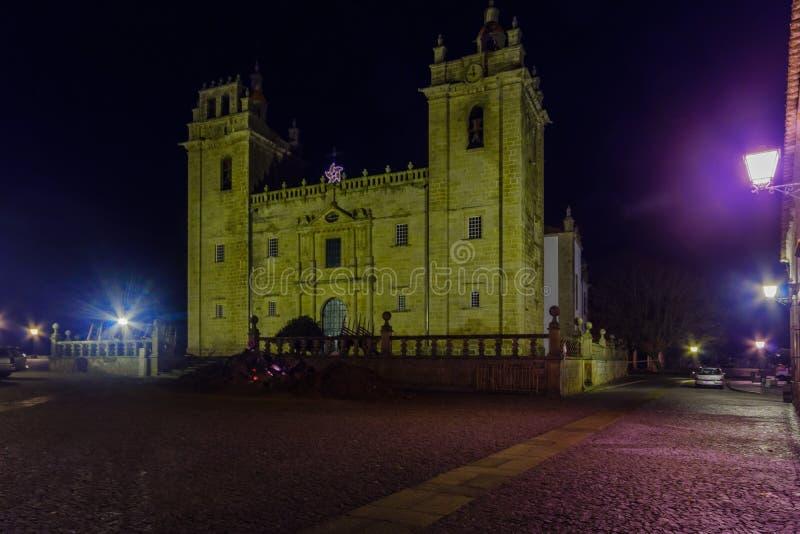 La cathédrale de Miranda font Douro photographie stock
