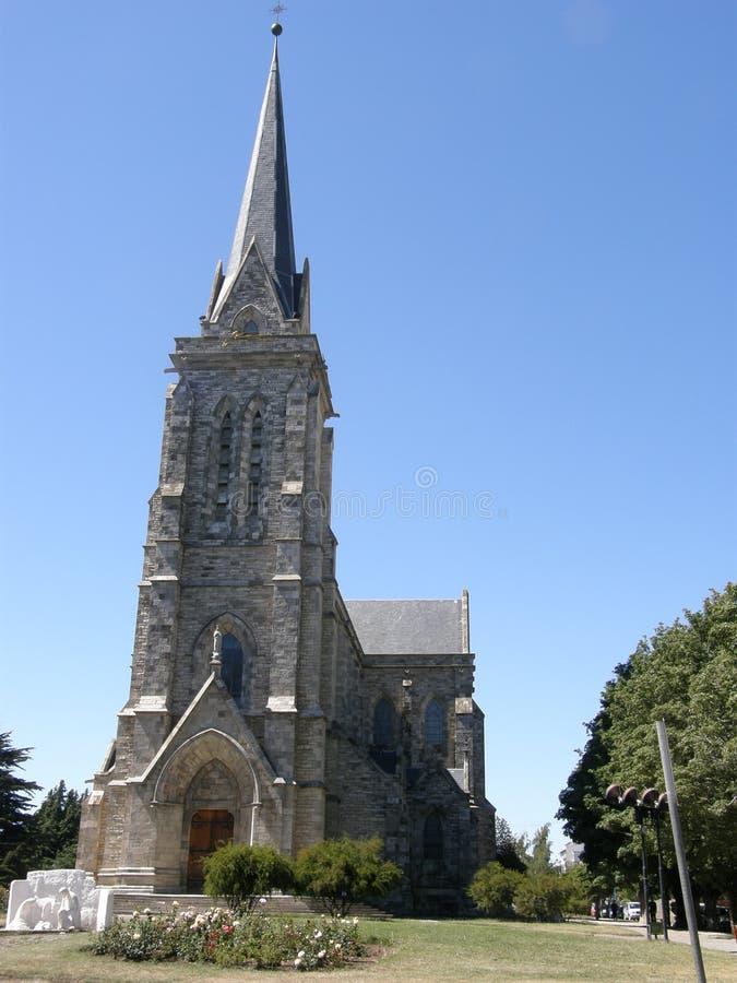 La cathédrale de notre Madame de Nahuel Huapi, Bariloche, Argentine photo libre de droits