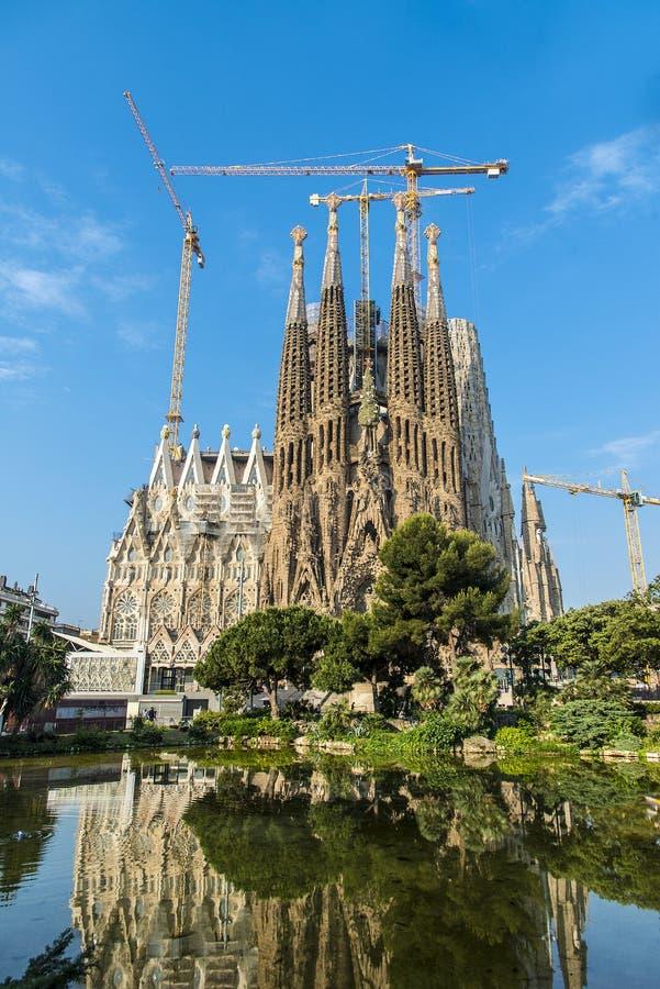 La cathédrale de la La Sagrada Familia par l'architecte Antonio Gau photos stock