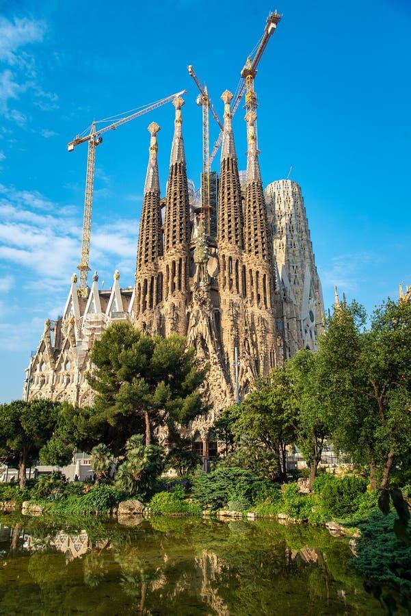 La cathédrale de la La Sagrada Familia par l'architecte Antonio Gau photographie stock libre de droits