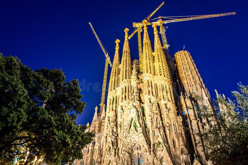 La cathédrale de la La Sagrada Familia par l'architecte Antonio Gaudi, Catalogne, Barcelone Espagne - 16 mai 2018 photos libres de droits